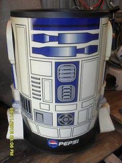 Star Wars R2 D2 Pepsi Rolling Ice Cooler,Good Buy.