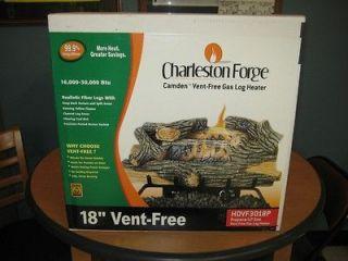 Charleston Forge 18 Camden Vent Free Propane Gas Log Heater