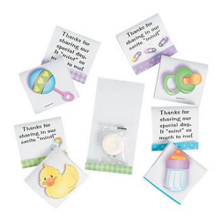 24 Baby Shower Favors Boy or Girl Candy MATCHBOOK MINTS ~ NEW