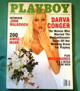August 2000 PLAYBOY Darva Conger Summer Altice Dorothy Stratten Nude