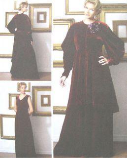Misses Costume Sewing Pattern Lined Jacket Dress Raglan Sleeve Dart