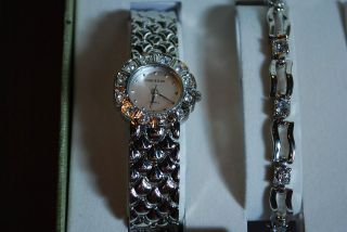 Beautiful Womens Cote d Azur Watch Bracelet Necklace Earrings NIB ($