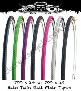 Halo Twin Rail Tyres Courier Fixie Single Speed 700 x 24 / 29