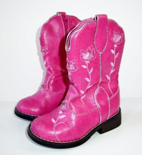 toddlers pink cowboy boots in Clothing,