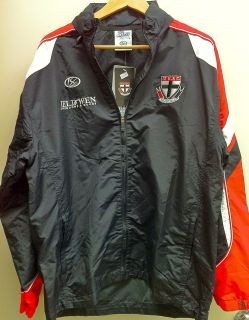 ST KILDA SAINTS JELD WEN AFL WET WEATHER SPRAY JACKET AND INBUILT HOOD