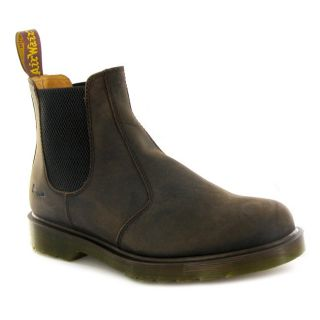 Dr.Martens 2976 Chelsea Crazy Horse Brown Leather Womens Boots
