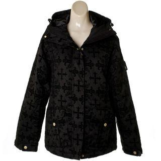 NWT Womens Cruel Girl CWJ9802001 Black Flocked Ski Jacket