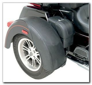 1414 0015 FENDER BRA SET BLACK for HARLEY DAVIDSON FL TRIKE 09 12