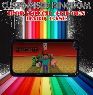 MINECRAFT characters creeper IPOD TOUCH 4TH GEN HARD CASE COVER GIFT