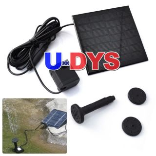 Solar Panel Power Submersible Fountain Pond Water Pump US