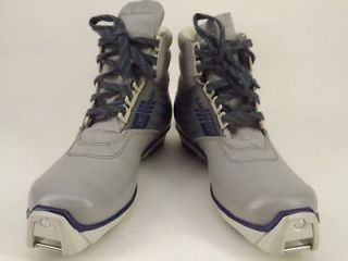 Womens cross country ski boot gray synthetic Solomon 410SNS 36 5 M
