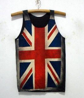 New UK British Union Jack flag singlet tank top shirt 36 SIZE M