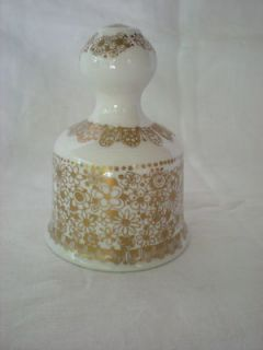Crown Staffordshire Englands Glory DINNER BELL Fine Bone China 1973