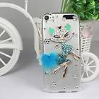 Clear Fox Bling Crystal Rhinestone Hard Case Cover For Apple ipod