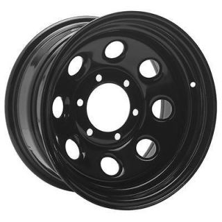 Black Steel Wheels 17x9 6x4.5 BC Set of 4 (Fits 1999 Dodge Dakota