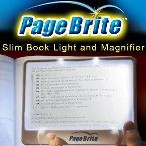 MAGNIFIER SILM BOOK LIGHT AS SEEN ON TV PAGEBRITE ORIGINAL 3X SLIM