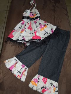 New Custom Glamour Girls Casual Pageant Wear Size 4/5 (2 pc set)