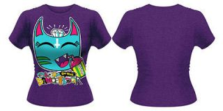 BLOOD ON THE DANCE FLOOR Slushee Bat T shirt (Purple) Ladies New