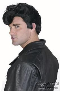 Mens 50s Grease Danny Halloween Costume Hair Wig New