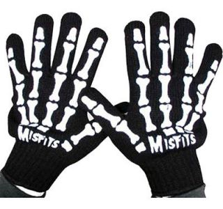 GHOUL FIEND SKELETON HANDS GLOVES ONE SIZE FITS ALL!!! GLEN DANZIG