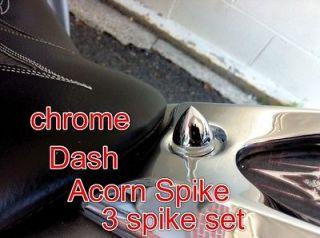 Chrome Bullet Spike Set, Dashboard/Speedo 3 pc.Machined set