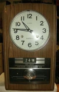 Vintage Korean made wall clock 31 day time strike day date working