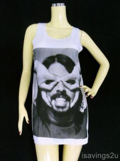 Dave Grohl FOO FIGHTERS Tank Top, Grunge ROCK Singlet