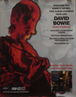 David Bowie Ziggy Stardust Promo Poster