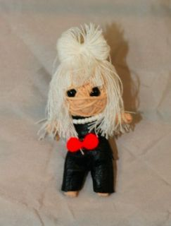 String Doll Voodoo Keychain gang Fame Monster Lady Gaga Luck Charm