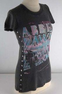 Abbey Dawn Black Wash Subway Jungle Tee Shirt Junior 3834