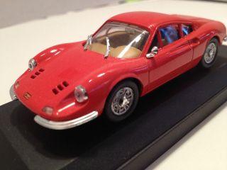 Vitesse Ferrari Dino 246 GT (Red) Scale 143 Diecast Model Car