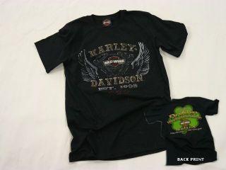 Dublin Harley Davidson Irish Wings of Motivation Mens T shirt