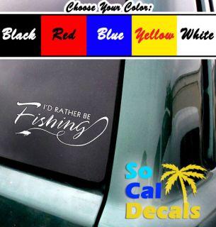 Be Fishing Vinyl Sticker Decal Car Laptop Window wall 6 years fishin