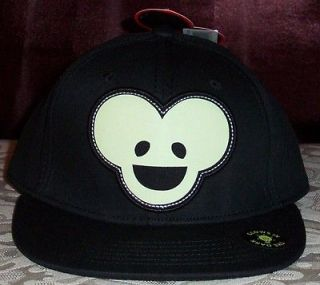 DEADMAU5 DEADMOUSE Applique Glow In The Dark MOUSE Baseball Cap Hat
