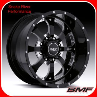 BMF WHEELS 8x180 18x9 NOVAKANE DEATH METAL BLACK 11 12 CHEVY GMC