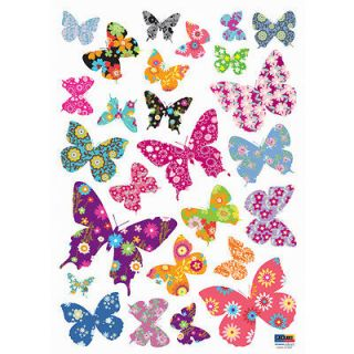 Patterned Butterfly Instant Art Home Decor Wall Sticker Decal Sheet