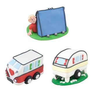CARAVAN/CAMPER VAN or TENT Fathers Day/Birthday cake decoration