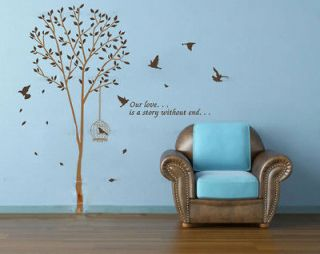 Our Love is A Story Without End Wall Art Decor Mural Sticker Decal