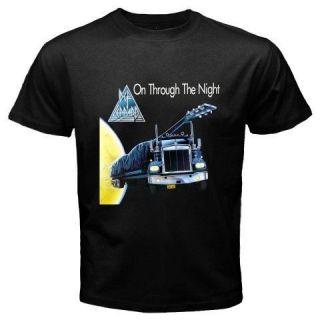 DEF LEPPARD *On Through The Night Rock Band Music Album Black T Shirt