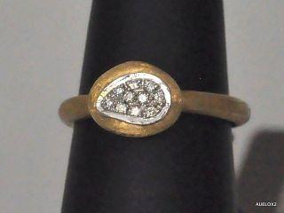Gorgeous New $1330 MARCO BICEGO Pave Diamond 18K Gold Ring Sz 7 SALE