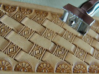 Crafters Series   Diamond Basket Weave Stamp (Leather Stamping Tool