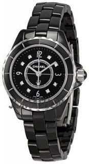 Chanel J12 Quartz Black Ladies Watch H2569