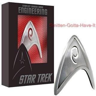 STAR TREK New Metal Starfleet ENGINEERING Division Badge PROP REPLICA