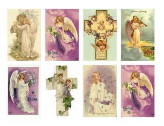 Victorian Angels Stickers 16 Different Stickers Easter