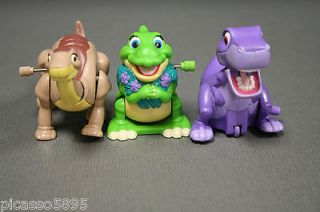 Time Movie Figures Burger King 1997 Toy Dinosaur Cake Topper Lot