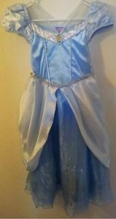 Disney Princess Cinderella Dress Up Outfit Costume Sz 5 6 Small Blue