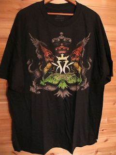 Kottonmouth Kings Black T Shirt 2 Lions, Krown Graphic Front & Back