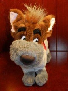 1988 12 DODGER Oliver & Company Disney Movie Dog Plush Stuffed Animal