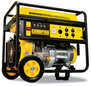 New Champion 6800 watt Gas Portable Gasoline Generator Carb Compliant