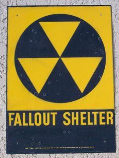 DOD 1960s FALLOUT SHELTER tin sign 10X14